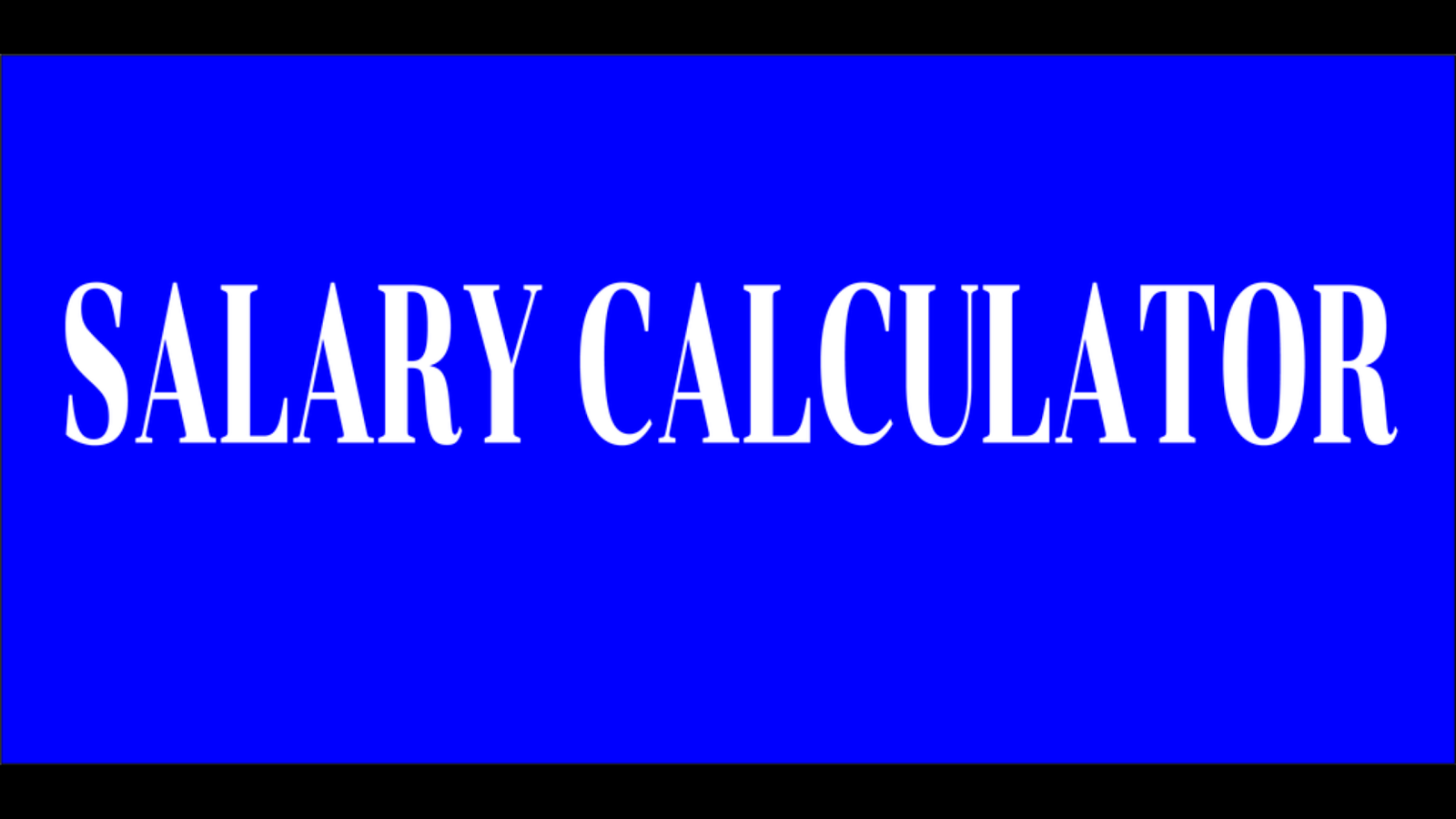 Salary Calculator- screenshot