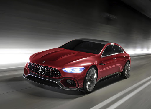 The production version of the Mercedes-AMG GT four-door looks set to be revealed in September. Picture: NEWSPRESS UK