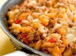 Mom's Skillet Macaroni And Beef