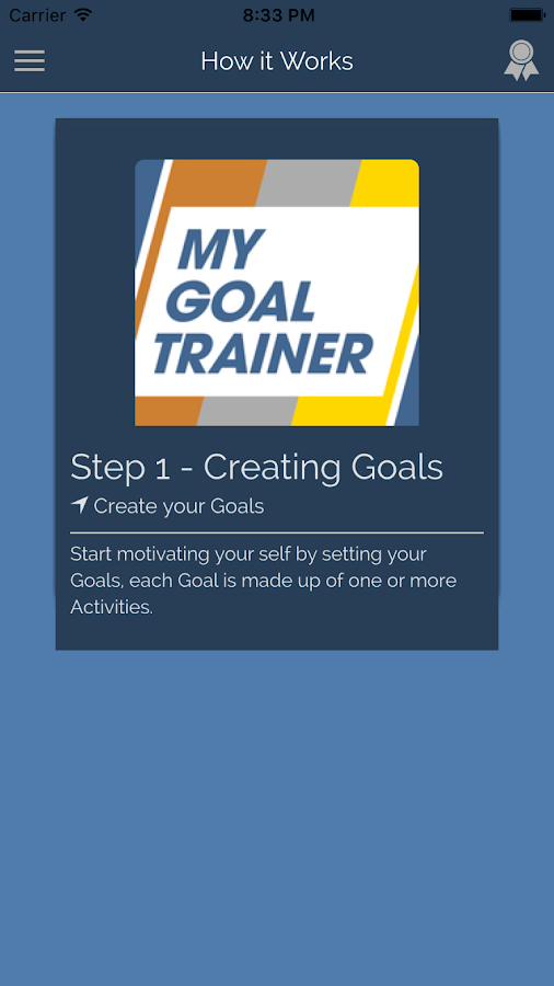 My Goal Trainer- screenshot