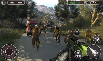 Death Zombie Street Killing 3D - zombie survival APK screenshot thumbnail 2
