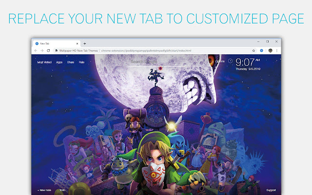 The Legend Of Zelda Wallpapers Custom New Tab