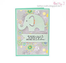 Photo: http://bettys-crafts.blogspot.com/2016/11/baby-karte-mit-elefant.html