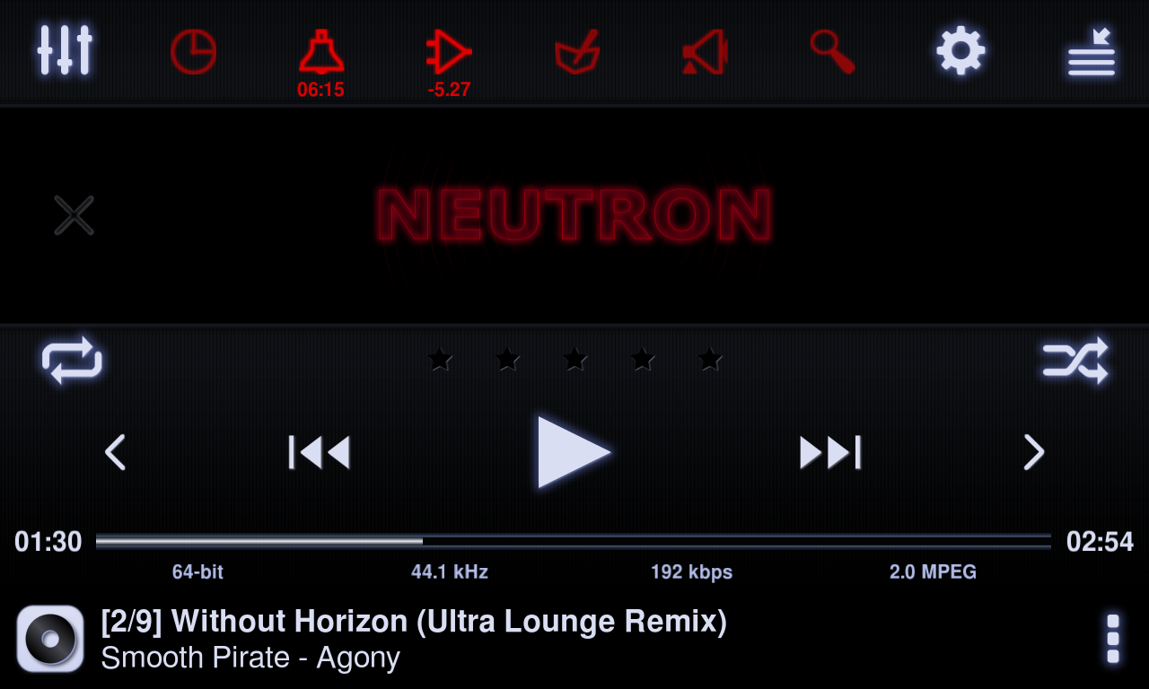 Neutron Music Player (Eval)- screenshot