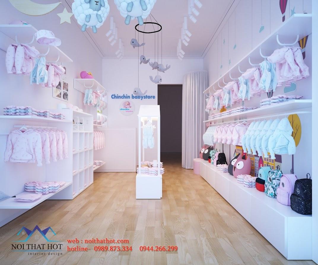 Thiết kế shop thời trang trẻ em độc đáo