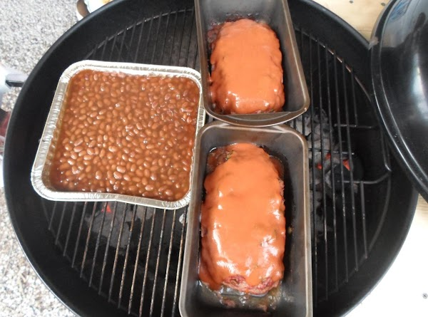 Add meatloaf topping to meatloaf, and grill for half hour, or until done. Also,...