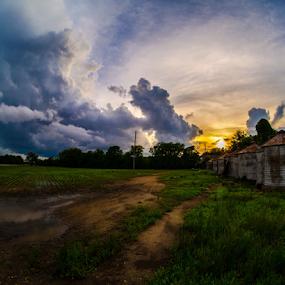 Delta storm sunset  by Richard Wright - Landscapes Sunsets & Sunrises ( nikon  d5200 sunset   delta  mississippi  storms,  )