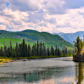 Yellowstone Beauty by Amada Gonzalez - Landscapes Waterscapes ( national park, nature, yellowstone national park, river, landscape,  )