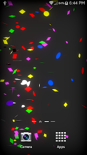 Confetti Live Wallpaper Screenshot