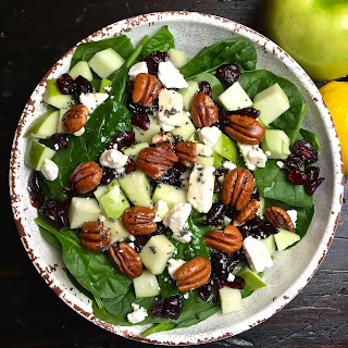 Spinach, Apple, and Cranberry Salad