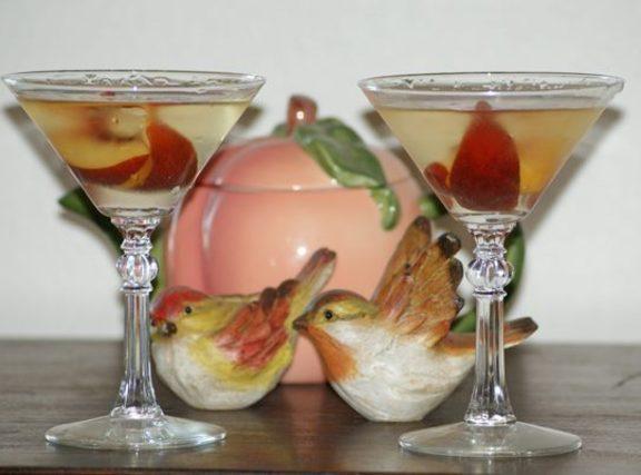 Peach Melba Martini For Two Recipe