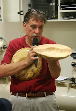 Photo: A couple of years ago, Tim brought this oak crotch bowl in and got some instructions on how to improve it.  So he ...
