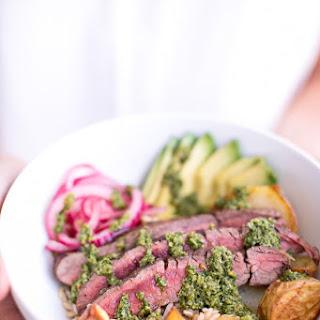 Chimichurri Steak Bowls with Roasted Potatoes Recipe