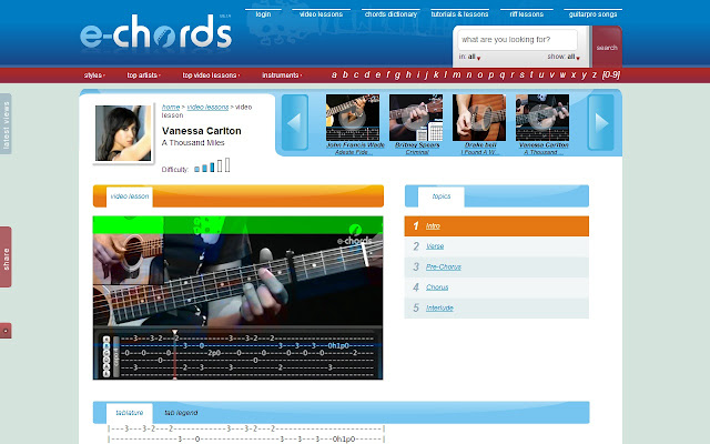 E Chords Chrome Web Store