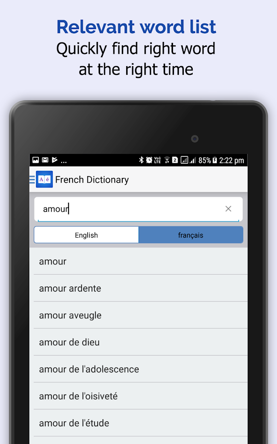 French Dictionary 📖 English - français Translator- screenshot