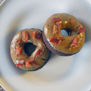 Coffee-Glazed Chocolate Donuts with Bacon
