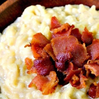 White Cheddar Orzo with Bacon.