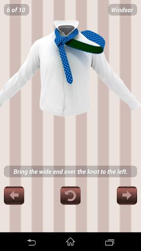 Как завязывать галстук -3D Pro для планшетов на Android