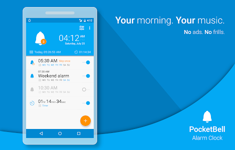 Radio Alarm Clock - PocketBell v2.2.3 (Pro)