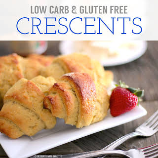 Healthy Low Carb and Gluten Free Crescent Rolls (sugar free, low fat, high fiber & high protein).