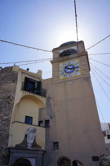 Clock tower in Capri, Italy (2015)