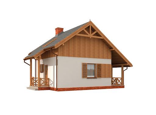 projekt Luizjana szkielet drewniany dom letniskowy z poddaszem