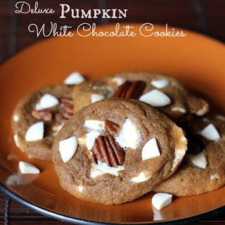 Deluxe Pumpkin White Chocolate Cookies