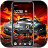Red flame cool sports car theme