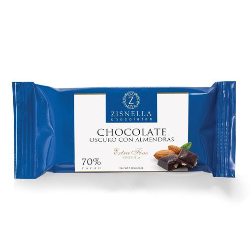 chocolate zisnella oscuro con almendras