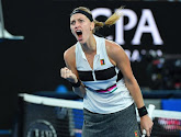 Petra Kvitova pas in drie sets voorbij Jennifer Brady in Dubai