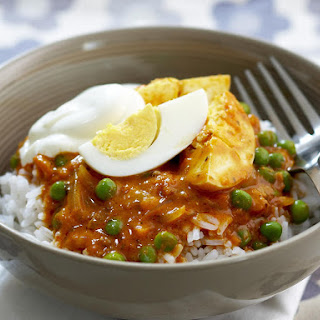 Curried Eggs with Rice.
