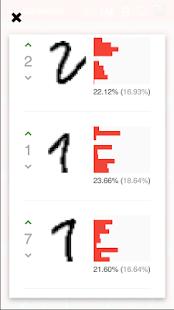 MNIST App - náhled