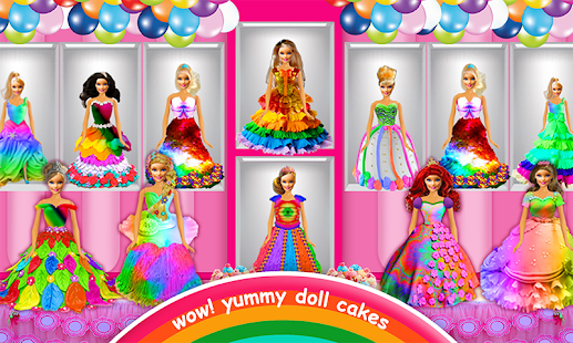 Rainbow Doll Cake bakery Game - DIY Cooking Kids- screenshot thumbnail