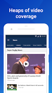 Union Live: Super Rugby XV scores, stats & news- screenshot thumbnail
