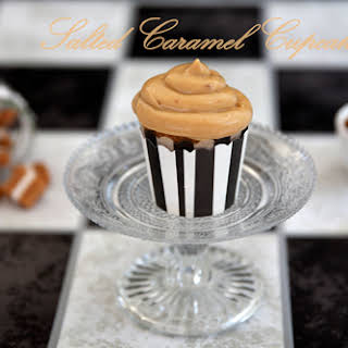 Salted Caramel Cupcakes -The Bomb!.