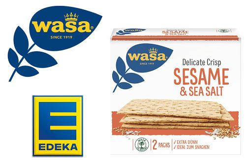 Bild für Cashback-Angebot: Wasa Delicate Crisp Sesame & Sea Salt bei EDEKA - Wasa