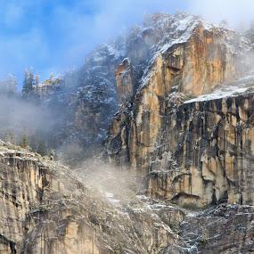 Winter Snow by Randi Hodson - Landscapes Mountains & Hills ( mountain, snow, rough, rocks,  )
