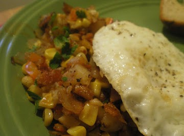 Country Corn Hash And Eggs Recipe