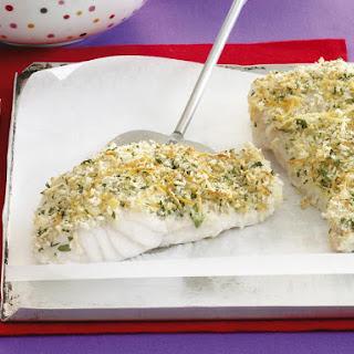 Parsley and Parmesan Fish.