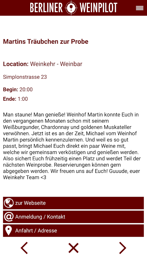 Berliner Weinpilot – Screenshot