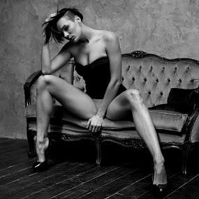 Diana by Libor Choleva - Black & White Portraits & People