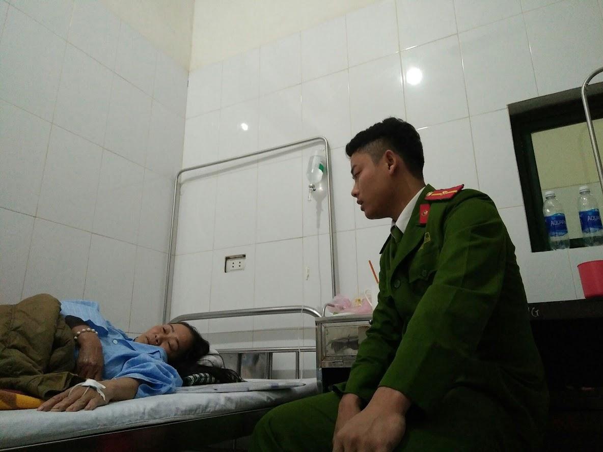 Công an làm việc cùng chị Nguyễn Thị Bảo