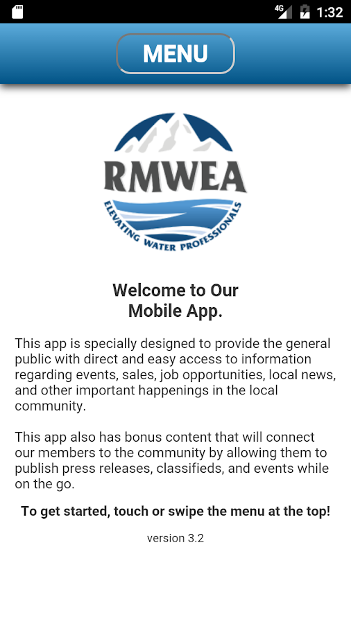 RMWEA Mobile APP- screenshot