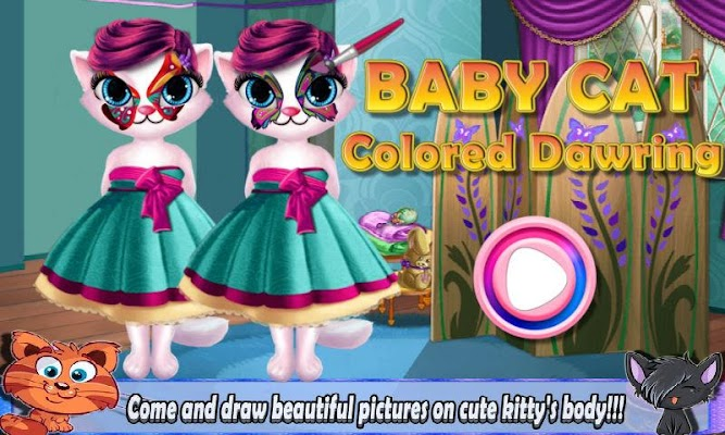Baby Cat Colored Drawing - screenshot