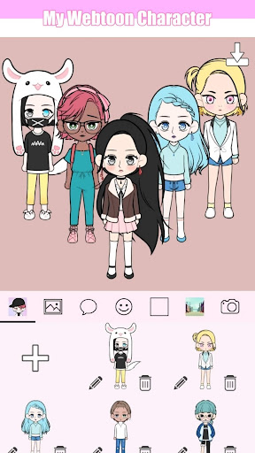 My Webtoon Character - K-pop IDOL avatar maker modavailable screenshots 2