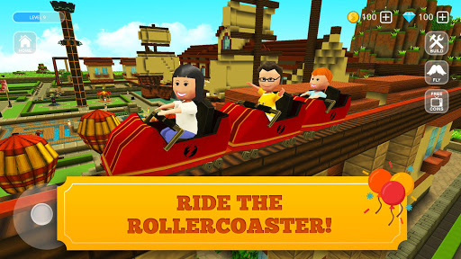 Roller Coaster Craft: Blocky Building & RCT Games 1.17-minApi23 screenshots 2