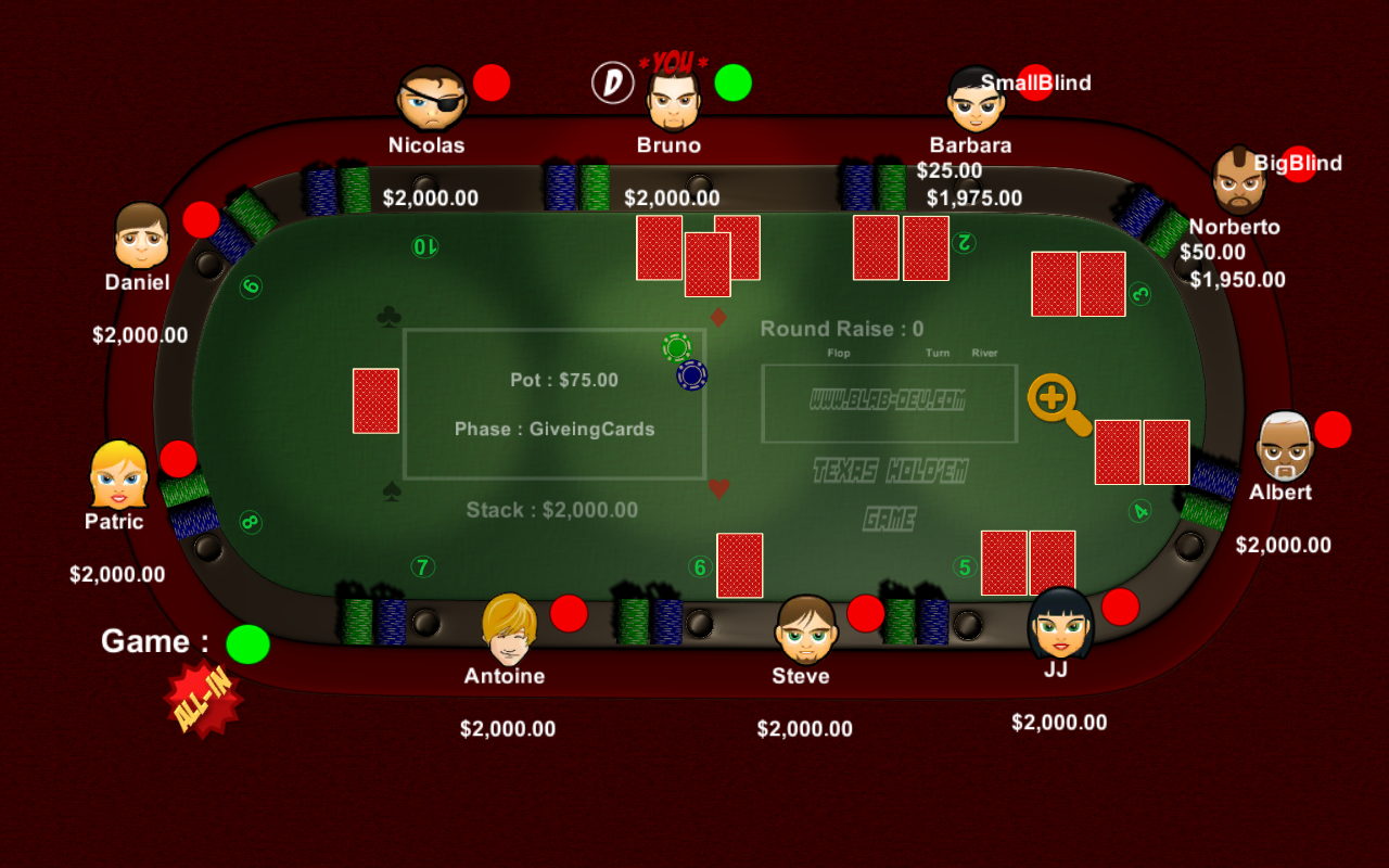 Holdem tournament
