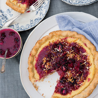 Coconut-Buttermilk Pie with Blackberry Caramel