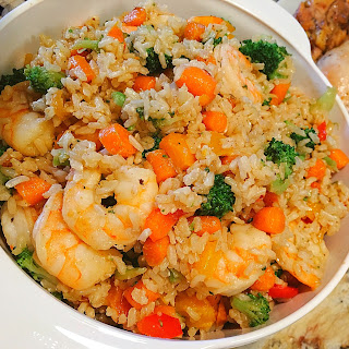 Garlic Shrimp Fried Brown Rice Recipe