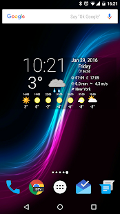 Simple Time & Weather Widget- screenshot thumbnail